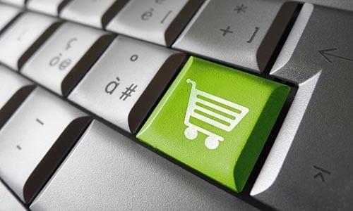 clavier avec bouton e-commerce