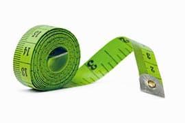 Un mètre ruban vert