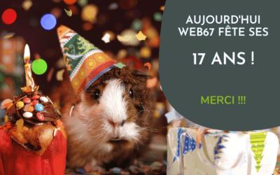 Web67 : 17 ans déjà !