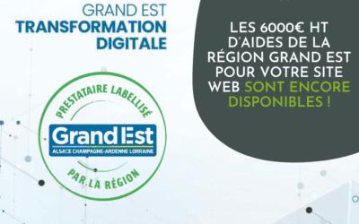 Les 6000€ HT d'aides de la Région Grand Est pour votre site web sont encore disponibles !