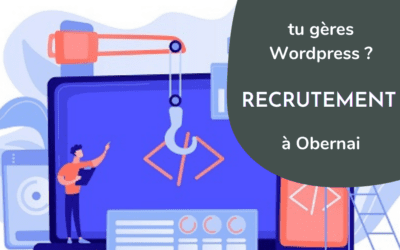 Recrute intégrateur WordPress expérimenté (H/F) à Obernai [RECRUTEMENT OUVERT]